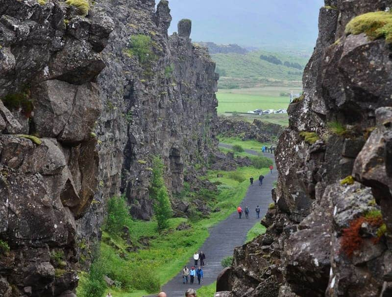 Þingvellir Continental Drift at National Park in Iceland