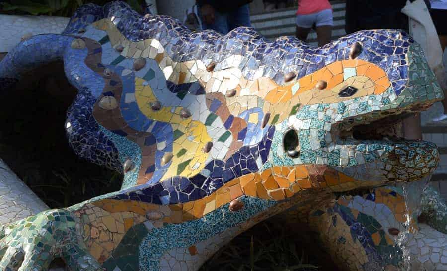 Barcelona Park Güell Mosaic