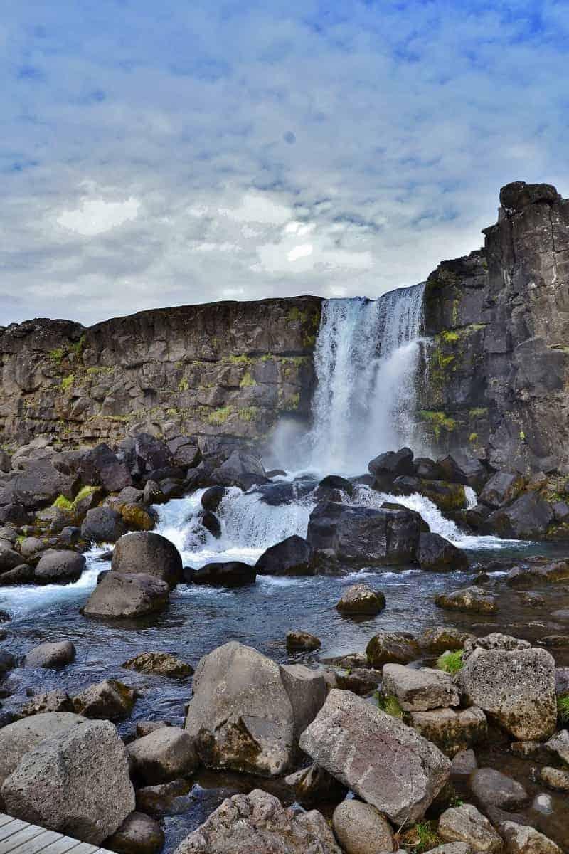 waterfall Öxarárfoss