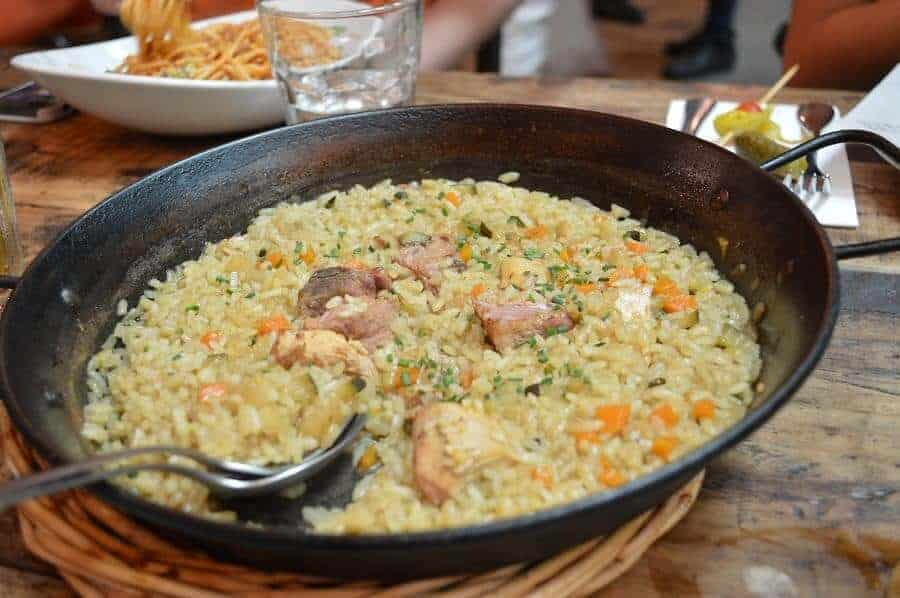 Chicken Paella in Barcelona