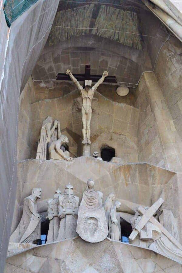 Sagrada Familia Exterior Crucifixion Scene