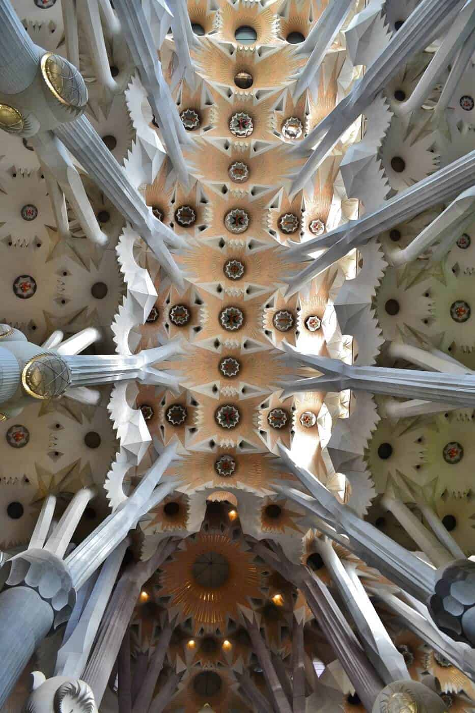 Ceiling in Sagrada Familia