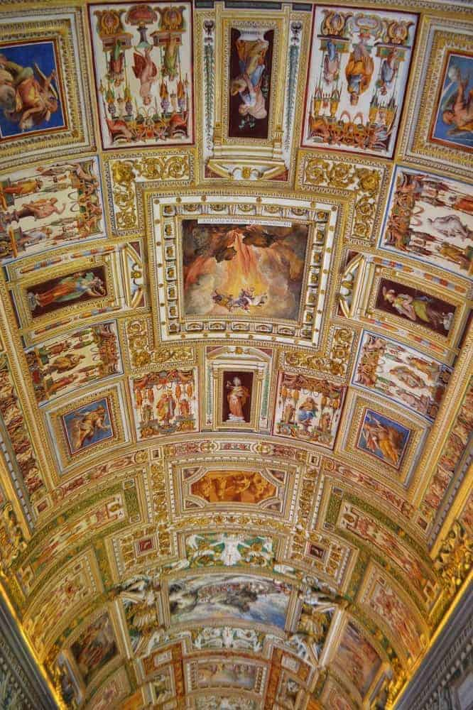 Frescoes on the Ceilings of Vatican Museum