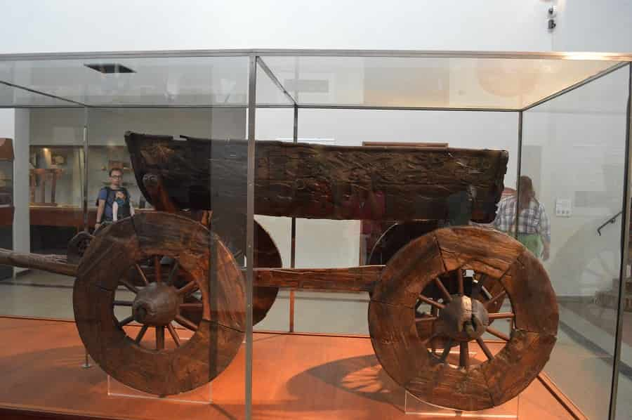 Cart in Viking Museum in Norway