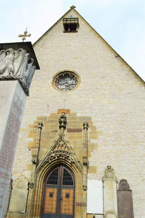 Front of Herrgottskirche in Creglingen
