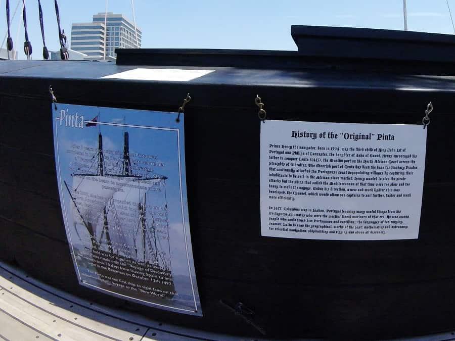 History of the original Pinta ship