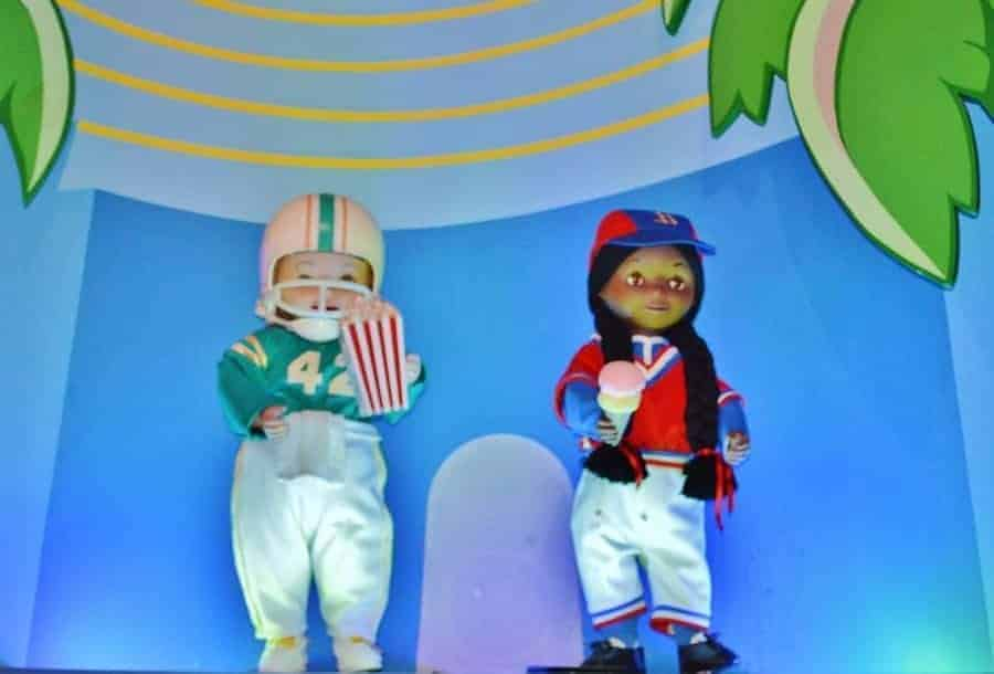 USA in It's a Small World Ride at Disneyland Paris