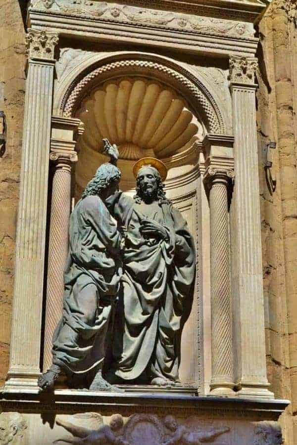 Sculpture in Orsanmichele in Florence