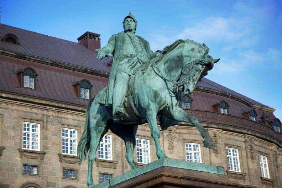 King Christian IX's equestrian statue