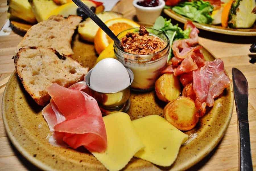 Traditional Icelandic Breakfast Plate at Bergsson Mathus Reykjavik Iceland