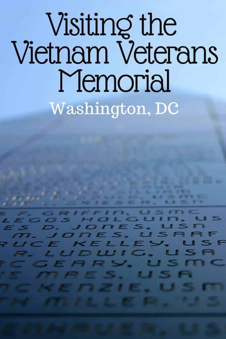 Visiting the Vietnam Veterans Memorial in DC