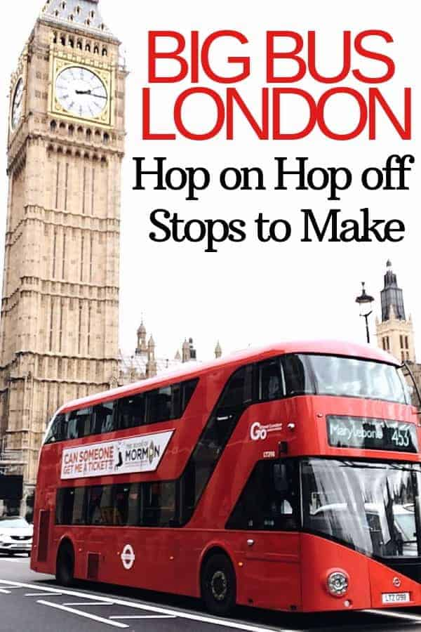 London Hop on Hop Off Stops to Make