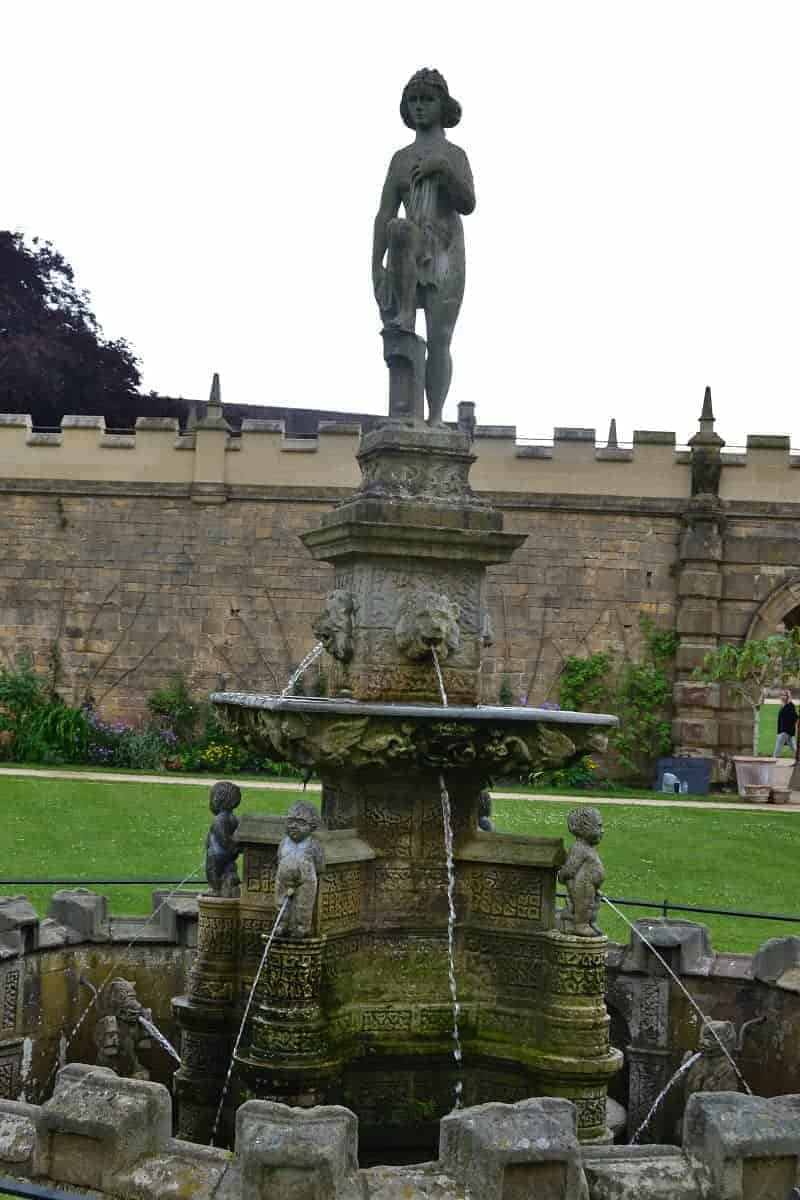 Fountain at the Bolsover Castle Gardens
