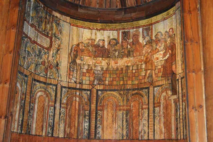 Gol Stave Church Reformation Mural