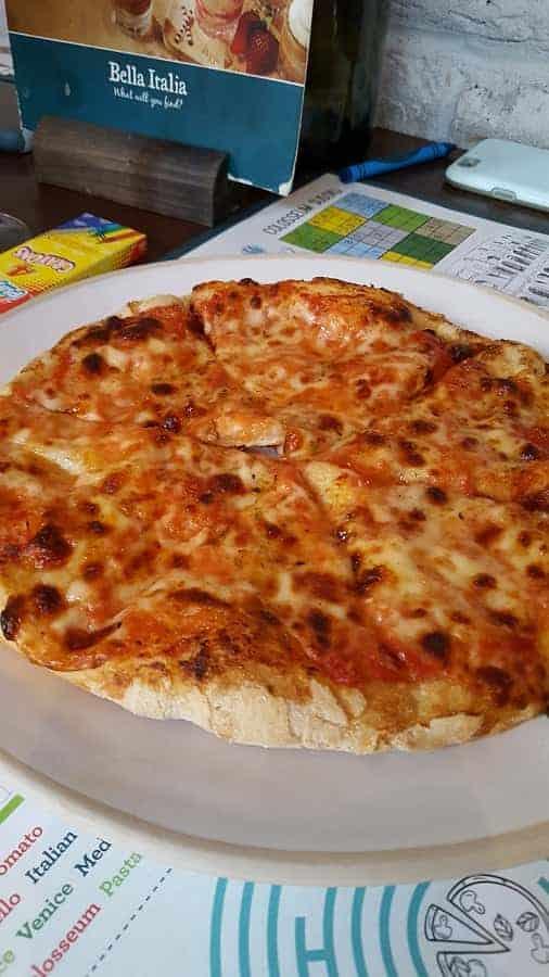 Pizza at Bella Italia