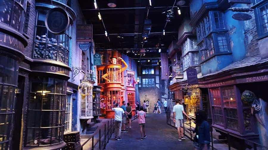 View of Diagon Alley from Harry Potter Movies