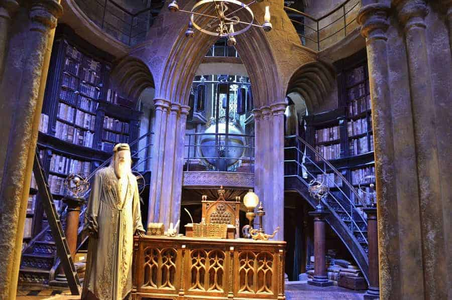 Dumbledore's office in the Harry Potter Movies