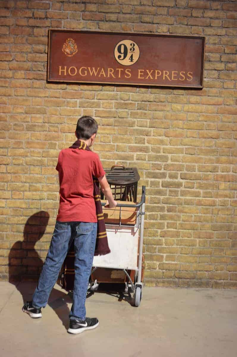 Run through the wall at Platform 9 3/4
