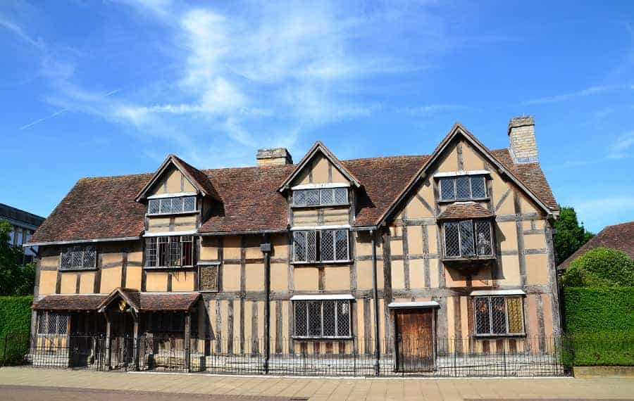 Shakespeare's Childhood Home in Stratford England