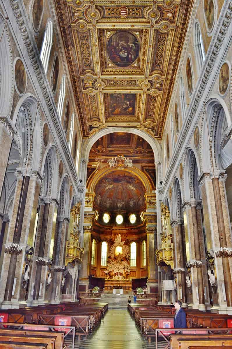 Interior of Naples Cathedral