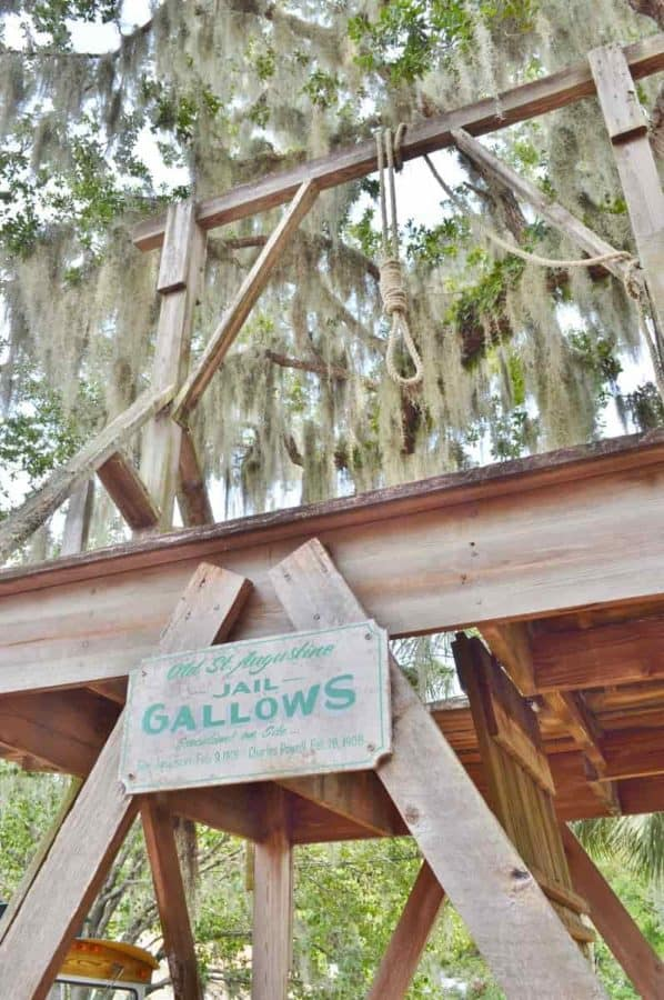 Gallows at the Old Jail in St. Augustine