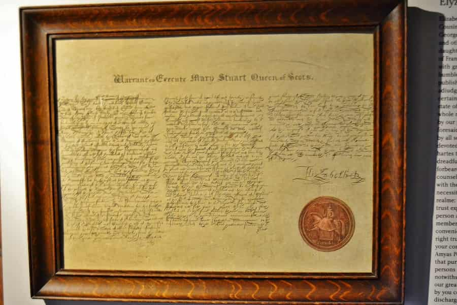 Mary Queen of Scots Execution Order