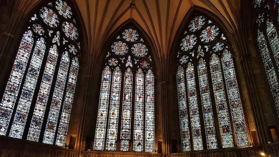 Ornate Stained Glass in York Minster