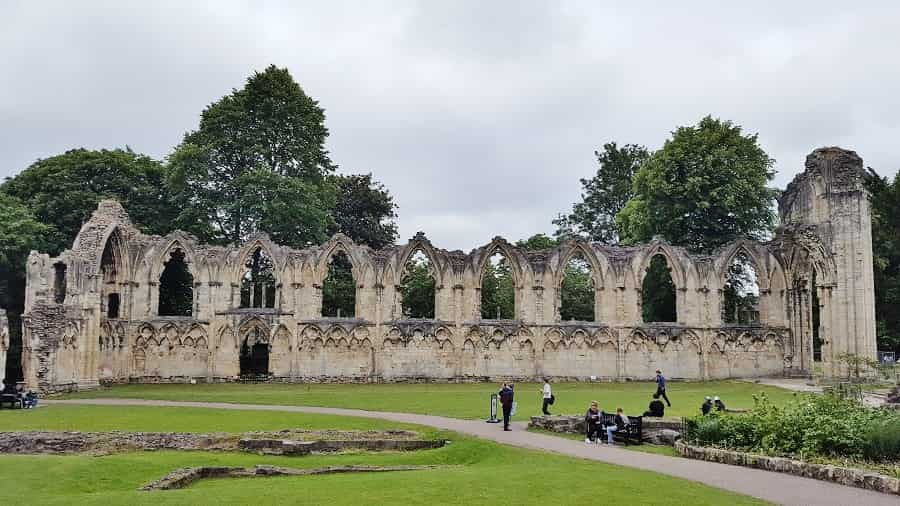 St. Mary Abbey Ruins in York