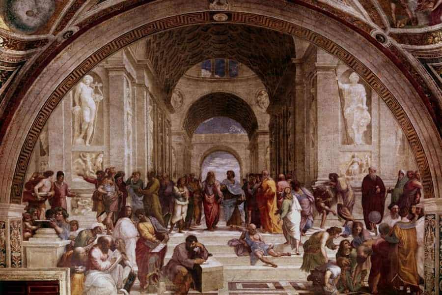The School of Athens' by Raffaello Santi