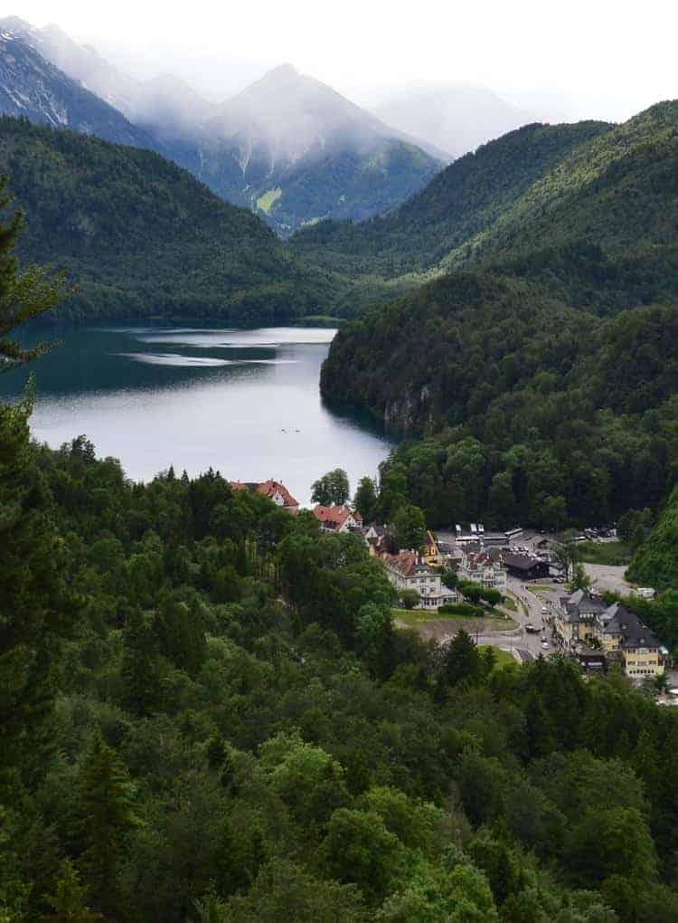 Schwansee lake in Fussen