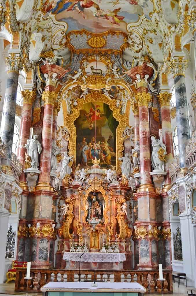 Interior Alter in Wieskirche