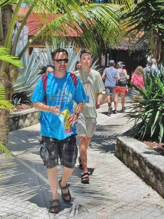 Walking in Cozumel