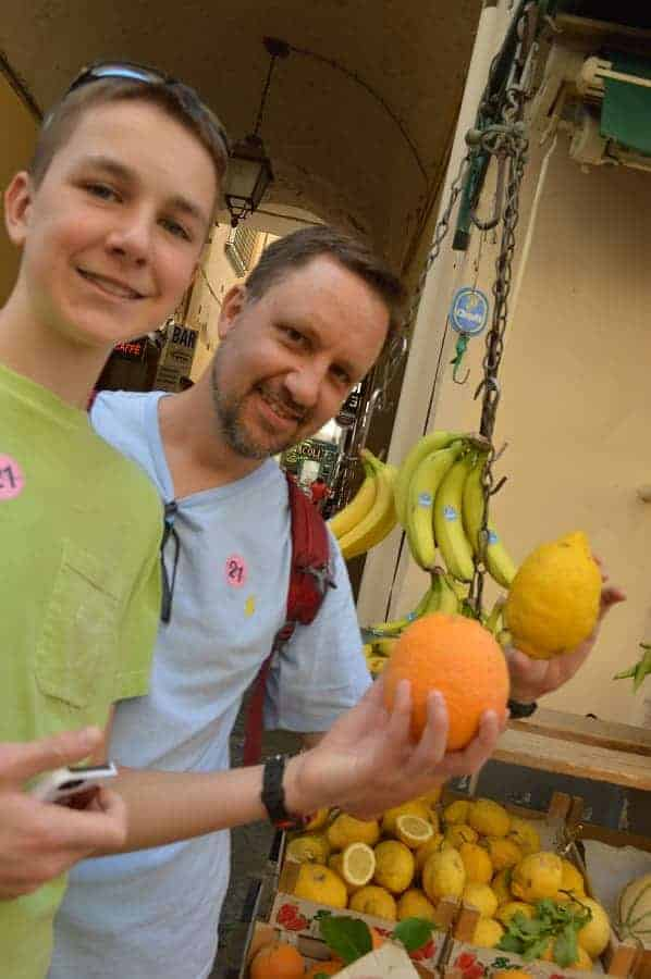 Lemons the size of oranges in Sorrento