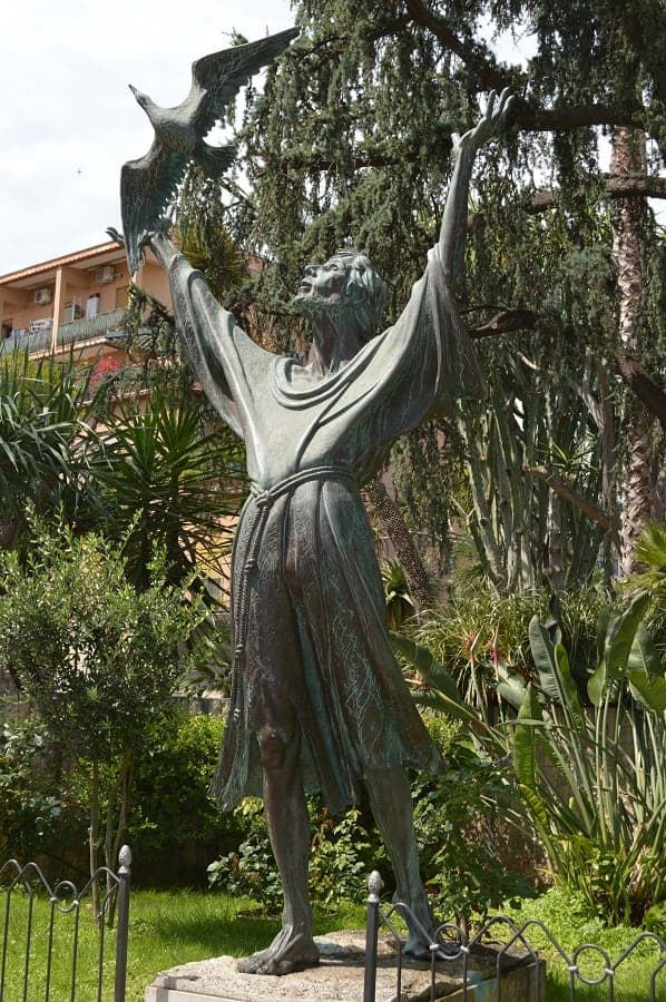 Saint Francis of Assisi Statue in Sorrento