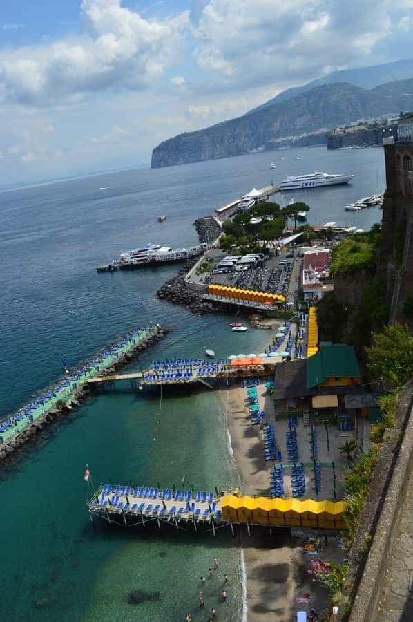 Sun Bathing Platforms for Sorrento Bay of Naples