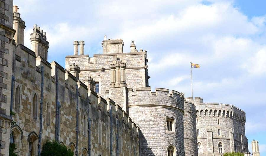 Royal Standard flying at Windsor Castle