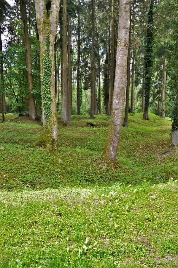 Grounds of Fleury destroyed during WWI