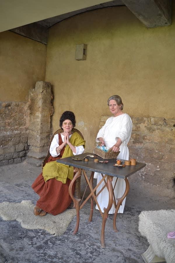 Ancient Roman Bath Characters