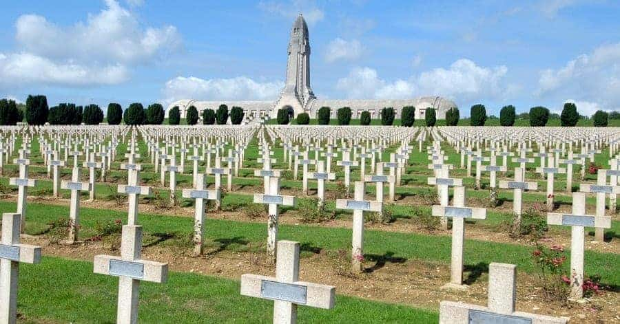 Graves at Douamount in France