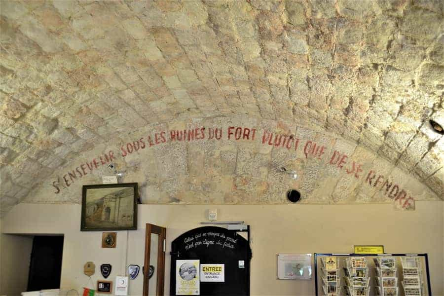 Inside Fort de Vaux