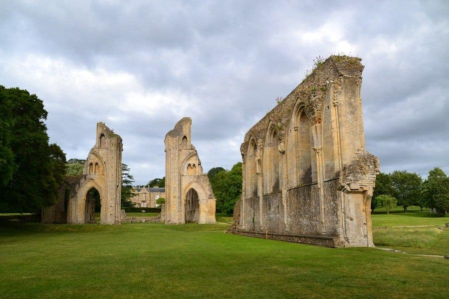 Ruins of Glastonbury Abbey in England