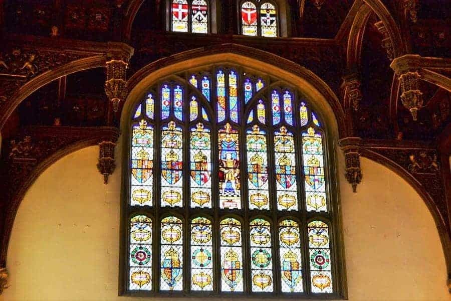 Hampton Court Palace Stained Glass in Great Hall