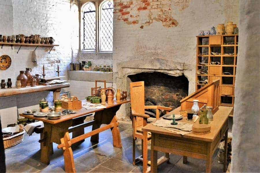 Tudor Kitchens in Hampton Court palace