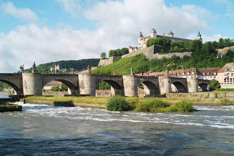 Alte Mainbrücke (bridge) and Fortress Marienberg