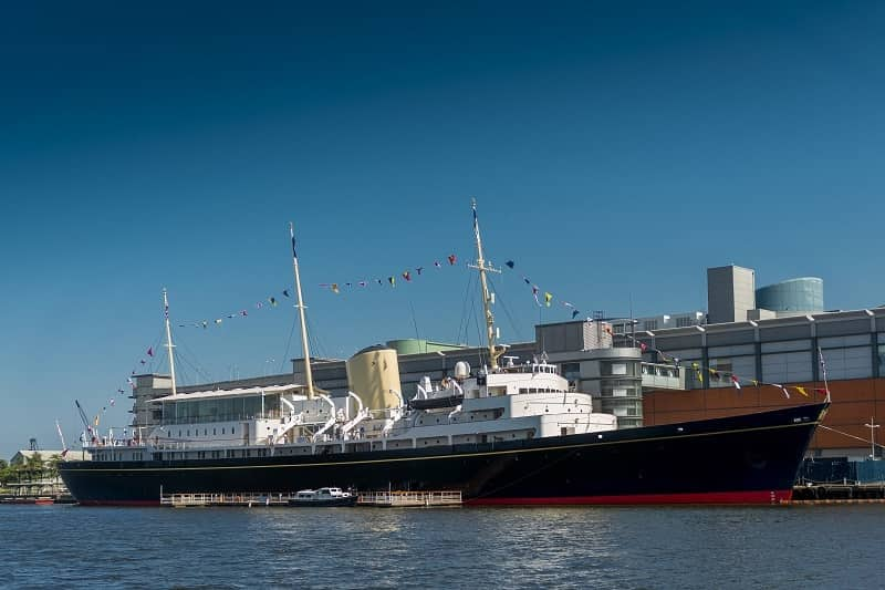 The Royal Yacht Britannia in Edinburgh Scotland