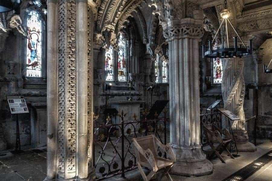 Rosslyn Chapel Pillars