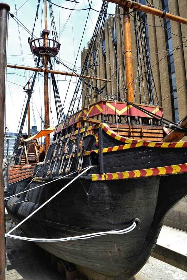Golden Hinde Ship Replica in London England