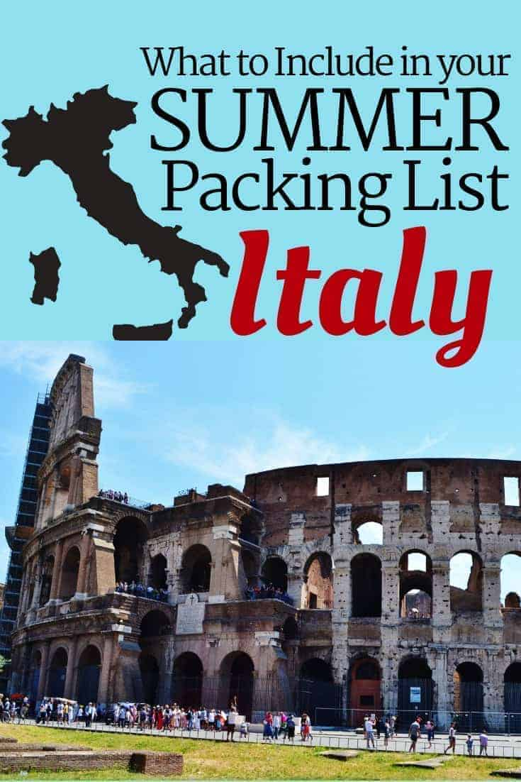 Summer Packing List for Italy (& the Vatican)