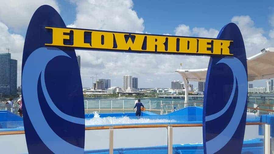Flowrider on Mariner of the Seas ship