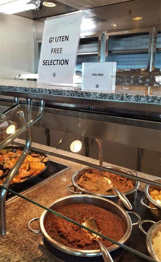 Gluten Free section on Mariner of the Seas Buffet